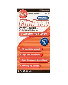 Cara Pin Away Pinworm Treatment, Caramel, Family Size 2 oz