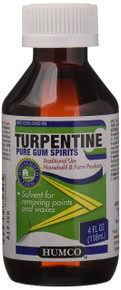 Humco TURPENTINE Gum Spirits Humco Alcohol, 4 Fluid Ounce