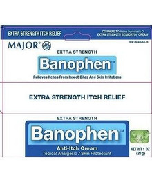 Major Banophen Anti-Itch Cream, Extra Strength, 1oz