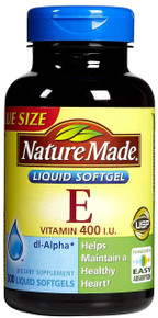 Nature Made Vitamin E 400 I.U. dl-Alpha 300 Softgels