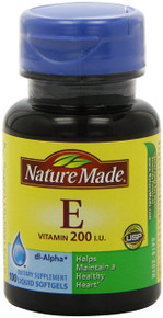 Nature Made Vitamin E 200IU, 100 Softgels
