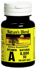 Nature's Blend Vitamin A 8,000 IU 100 Softgels