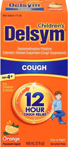 Delsym Children's Cough Suppresant, Orange Flavored Liquid, Alcohol Free, 3 Oz
