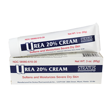 Stratus Urea 20% Cream 3 oz, softening and moisturizing dry skins