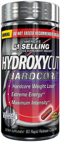 Hydroxycut Hardcore, America's #1 Selling Weight Loss Brand, 60 ct