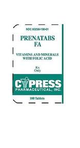 Cypress Pharma Prenatal 19 Chew 100 Tabs