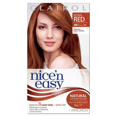 Clairol Nice 'n Easy Hair Color 110 Natural Light Auburn 1 Kit