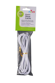 NOVA Elastic Shoe Laces White 1 Pound 32""