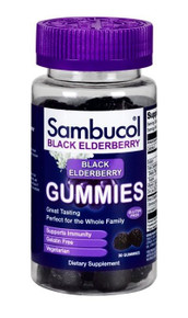 Sambucol Black Elderberry Gummies Berry 30 ct Supports Immune system