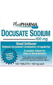 Plus PHARMA Stool Softener Docusate Sodium 100 mg 100 ct