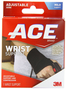 ACE Wrist Support One Size 1 ea Adjustable Support & Compression