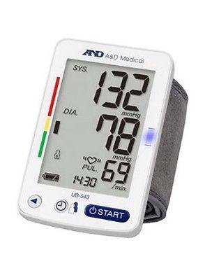 A&D Medical Automatic Premium Wrist Blood Pressure Monitor UB-543