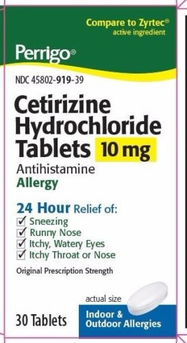 Perrigo Cetirizine Hydrochloride Antihistamine Tablets 10mg 300 Count