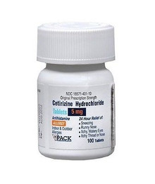 Pack Pharmaceuticals Cetirizine Hydrochloride 5 Mg 100 Tablets