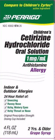 Perrigo Children's Cetirizine Hydrochloride Oral Solution 1 mg/mL 4 oz