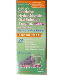 Taro Children's Cetirizine HCl Solution Grape 4oz