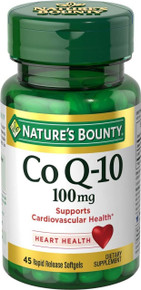 Nature's Bounty CoQ 10, 100mg, 45 Softgels