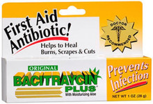 Bacitraycin Plus First Aid Antibiotic Original with Moisturizing Aloe 1 oz