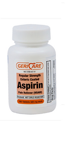 Geri-Care Enteric Coated Aspirin Pain Reliver 325 MG 100 ct
