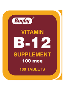 Rugby Vitamin B-12 Supliment 100 Mcg 100 Tablets