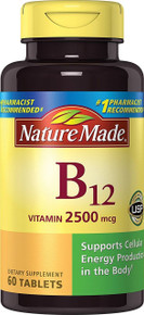 Nature Made B-12 Vitamin 2500 Mcg Tablets 60 Count