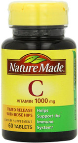 Nature Made Vitamin C 1000mg Timed Release with Rose Hips 60 Tablets