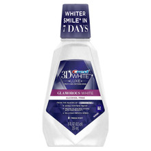 Crest 3D White Glamorous White Multi-Care Whitening Fresh Mint Flavor Mouthwash