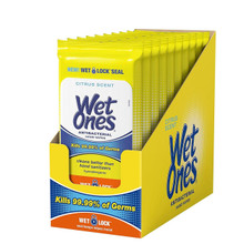 Wet Ones Citrus Antibacterial Hand Wipes 20 Count
