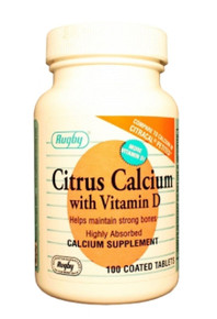 Rugby Citrus Calcium with vitamIn D400MG W/D 500IU TAB 100 CT