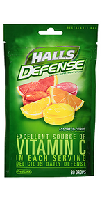 HALLS Defense Vitamin C Assorted Citrus 30 Counts