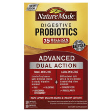 Nature Made Digestive Probiotics Advanced 30 Day Supply Softgel 60 Count