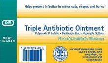 G&W Triple First Aid Antibiotic Ointment 5M UN, 1 oz