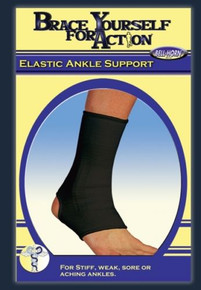 "Bell-Horn Elastic Ankle Support Medium 8.5-10"" Black"