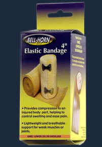 "Bell-Horn 4"" Elastic Bandage with Clip Lock"