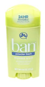 Ban Deodorant Powder Fresh Invisible Solid Antiperspirant & Deodorant 2.6 Ounce