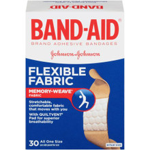 Band-Aid Flexible Fabric Adhesive Bandages 30 Count 1.9 cm x 7.6 cm