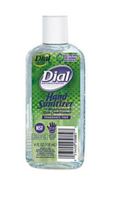 Dial Antibacterial Hand Sanitizer with Moisturizers 4oz Bottle Fragrance-Free