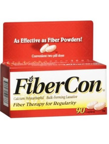 FiberCon Caplets, Fiber Therapy For Regularity, 90 Counts, LL, F66