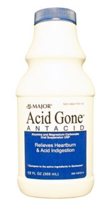 Major Acid Gone Antacid Liquid Relieves Heartburn and Indigestion 12 Oz