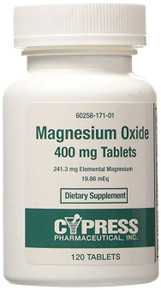 Magnesium Oxide 400mg Tablets 120 ct Cypress