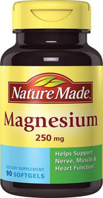 Nature Made Magnesium 250 Mg Softgel 90 Count