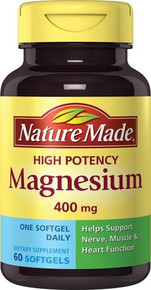Nature Made High Potency Magnesium 400 Mg 60 Count