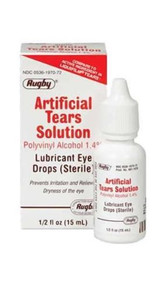 Rugby Artificial Tears Ophthalmic Sterile Lubricant Eye Drops Solution 15ml