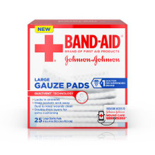 Band-Aid Large All-in-One Sterile Adhesive Gauze Pad 4.5in X 5.5in 4 Counts