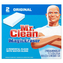 Mr Clean Erase and Renew Magic Eraser Original, Multi Purpose Cleaning Pads 2 Ct