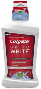 Colgate Optic White Mouthwash Sparkling Fresh Mint 16 Fluid Ounce