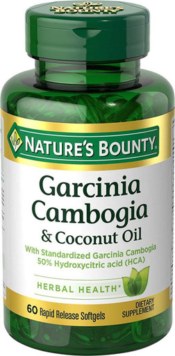 Nature's Bounty Garcinia Cambogia & Coconut Oil 1000 mg 60 Soft-gels