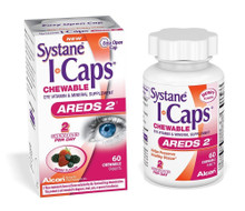 Systane ICaps Areds 2 Eye Vitamins 60 Chewable Tablets Berry 0.4175 Pound