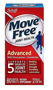 Move Free Advanced, Joint Health Supplement with Glucosamine & Chondroitin 80 ct