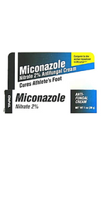 TARO Miconazole Nitrate 2% Anti Fungal Cream 1 Oz Cures Athletes Foot